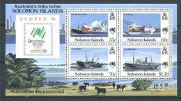237 SALOMON 1988 - Yvert BF 24 - Bateau Paquebot Cargo Porte Conteneur - Neuf **(MNH) Sans Trace De Charniere - Salomon (Iles 1978-...)