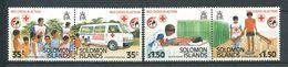 237 SALOMON 1989 - Yvert 670/73 - Croix Rouge Ambulance - Neuf **(MNH) Sans Trace De Charniere - Salomon (Iles 1978-...)