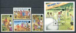 237 SALOMON 1989 - Yvert 682/85 BF 27 - Jeu Enfant Base Ball Osselet ... - Neuf **(MNH) Sans Trace De Charniere - Salomon (Iles 1978-...)
