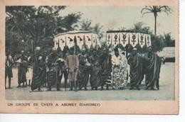 UN GROUPE DE CHEFS A  ABOMEY DAHOMEY - Postcards