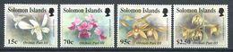 237 SALOMON 1992 - Yvert 782/85 - Fleur Orchidee - Neuf **(MNH) Sans Trace De Charniere - Salomon (Iles 1978-...)