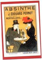 CPM/  Absinthe J.E PERNOT  MONTBELIARD   REPRO D'Affiche Publicitaire - Publicité