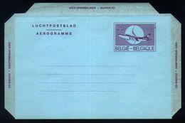 B19 - Belgium - Postal Stationery Aerogram 25fr NF Version - Stamped Stationery