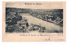 CPA Dos Non Divisé : NAMUR Confluent De Sambre Et Meuse - Namur
