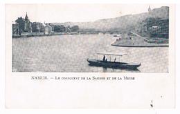 CPA Dos Non Divisé : NAMUR Confluent De Sambre Et Meuse , Barque Du Passeur , Pointe De Grognon - Namur