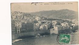 CARTE POSTALE DE ALGER LE BASTION ET LA BOUZAREAB 21/10/1912 OBLITEREE STAOUELI - Algerien
