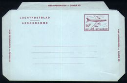 B20 - Belgium - 1976 - Postal Stationery Aerogram 14fr NF Version - Stamped Stationery