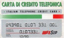 PHONE CARD-SCHEDA TELEFONICA-ITALIA-CARTA DI CREDITO TELEFONICO-SIP - Cartes De Crédit (expiration Min. 10 Ans)