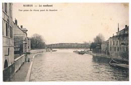 CPA : NAMUR La Passerelle Vicinale , Vue Vers Le Confluent Prise Du Vieux Pont De Sambre - Namur