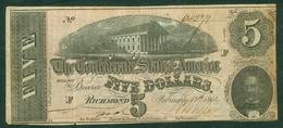 USA 1864 Richmond 5 Dollars - Divisa Confederada (1861-1864)