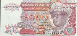 Zaire 2.000 Zaires, P-36a (1.10.91) - UNC - Zaire