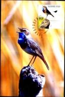 SONG BIRDS- BLUE THROAT - NEDERLANDS- BIRD WITH IT SILHOUETTE- MNH-MC-56 - Songbirds & Tree Dwellers