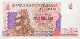 Zimbabwe 5 Dollars, P-5a (1997) - UNC - Simbabwe