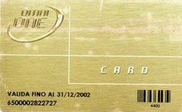 PHONE CARD-SCHEDA TELEFONICA-ITALIA-CARTA DI CREDITO TELEFONICO-OMNI ONE CARD-OMNITEL - Carte Di Credito (scadenza Min. 10 Anni)