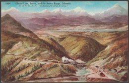 Glacier Lake, Sunset And The Snowy Range, Colorado, C.1910 - Williamson Haffner Postcard - United States