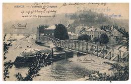 CPA : NAMUR La Passerelle Vicinale De Grognon , Confluent, Linge Mis à Sécher Sur La Pointe - Namur