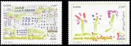 ALGERIE ALGERIA 2016 AUTISM AUTISME MALADIES MEDECINE HEALTH TREES CHILDREN PAINTINGS DESSINS ENFANTS MNH ** - Childhood & Youth