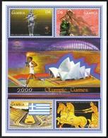 Gambia / Olympic Games Sydney 2000 / Athletics, Basketball, Torch, Greece Flag, Horses / Mi 3584-3587 / MNH - Sommer 2000: Sydney