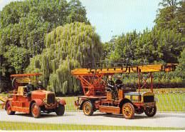 CAMIONS SAPEURS POMPIERS LYON Auto Pompe SOMUA 1926  Echelle MERRYWEATHER - CPSM GF - Fire Department Firefighters - Camion, Tir