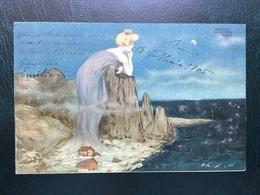 Art Nouveau - Raphael Kirchner - Women Dominating Landscapes - E.25 - 2 - Kirchner, Raphael