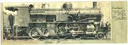 Photo  Sur  Carton - Locomotive  Etat  Italien - Groupe  740 / 352 - Reproductions