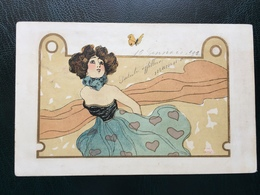 Art Nouveau - Raphael Kirchner Sign. Nini Hager - Girls With Animals - Rif. L.1 - 5 - Kirchner, Raphael