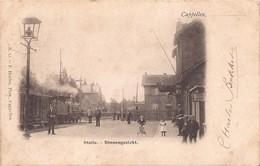 CAPELLEN KAPELLEN 1901 STATIE STATION BINNENGEZICHT MET STOOMTRAM - MOOIE ANIMATIE - HOELEN KAPELLEN 13 - Kapellen