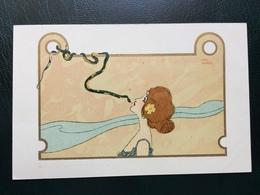 Art Nouveau - Raphael Kirchner Sign. Nini Hager - Girls With Animals - Rif. L.1 - 6 - Kirchner, Raphael
