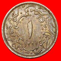 # MUHAMMAD V AH1327-1332/1909-1914: EGYPT ★ 1/10 PIASTRE 1327/6 (1913)! LOW START ★ NO RESERVE! - Egitto