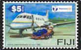 FIJI : 092 $5  Postal Independence AirPLANE  Stamp USED - Fiji