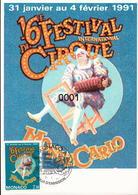 1753 Festival Du Cirque 02/01/1991 - Cartes-Maximum (CM)