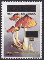 Timbre Neuf ** N° 1529(Michel) Congo 2000 - Champignons, Surchargé - République Démocratique Du Congo (1997 -...)