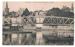 CPA Dos Non Divisé : NAMUR La Passerelle Vicinale , Confluent De La Sambre Et De La Meuse , Barque Du Passeur - Namur