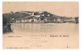 CPA Dos Non Divisé : Souvenir De NAMUR Confluent Et Citadelle , Passerelle Vicinale - Namur