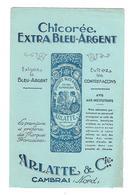BUVARD     CHICOREE  EXTRA  BLEU  ARGENT - Blotters