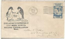 ESTADOS UNIDOS USA 1935 EXPEDICION ANTARTIDA RICHARD BYRD ANTARCTIC AL DORSO MAT - Expediciones Antárticas