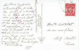 POSTE AUX ARMÉES Timbre Franchise N°12 17 Avril 1953 Pour Metz + Cachet Militaire Rose - CP Innsbrück Altstadt - Franchise Militaire (timbres)