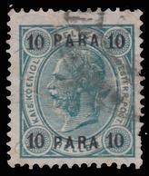 Francobolli Austriaci - Senza Valori Austriaci. Con Barre Di Vernice -  10 Pa Blu Verdastro - No 43 - 1903 - Oriente Austriaco