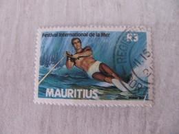 MAURICE MAURITIUS 1987  Obli. SKI NAUTIQUE - Maurice (1968-...)
