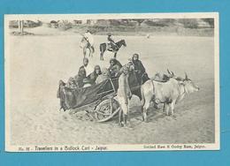CPA Inde India Britannique Anglaise Non Circulé Voyageurs Dans Un Char à Bœufs - Inde