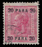 Francobolli Austriaci - Senza Valori Austriaci. Con Barre Di Vernice - 20 Pa Carminio Opaco No 44 - 1903 - Oriente Austriaco