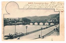 CPA Dos Non Divisé : NAMUR Promenade De La Meuse - Namur