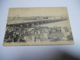 33 GIRONDE CARTE ANCIENNE EN NOIR ET BLANC DE 1914 BORDEAUX VUE DU PONT ET DE LA RADE EDIT A M - Bordeaux