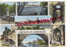 30- PONT SAINT ESPRIT -FONTAINE DE LA NAVIGATION-ESCALIERS ST PIERRE - RHONE-NOUVEAU PONT-VUE GENERALE-EGLISE ST PIERRE - Pont-Saint-Esprit