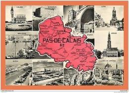 A624 / 539  62 - PAS DE CALAIS Carte Géographique Multivues - France