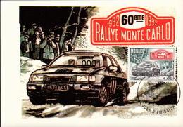1816 60ème Rallye De Montecarlo 13/03/1992 - Cartes-Maximum (CM)