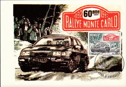 1816 60ème Rallye De Montecarlo 13/03/1992 - Maximumkarten (MC)