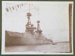 Le «Collingwood» Après Un Coup De Canon. Athènes. 1913. Bateau. Guerre. - Boats