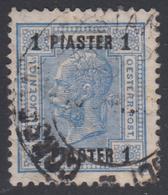 Francobolli Austriaci - Senza Valori Austriaci. Con Barre Di Vernice - 1 Pia Oltremare No 45 - 1903 - Oriente Austriaco