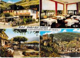 DEUTSCHLAND Allemagne ( Hesse ) ASSMANNSHAUSEN AM RHEIN : Hotel UNTER DEN LINDEN - CPSM GF -  Germany - Allemagne